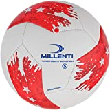 Millenti US Soccer Ball Size 5 - USA Red White and Blue Soccer Balls - Classic Soccer Training Ball - Team Practice, Match or