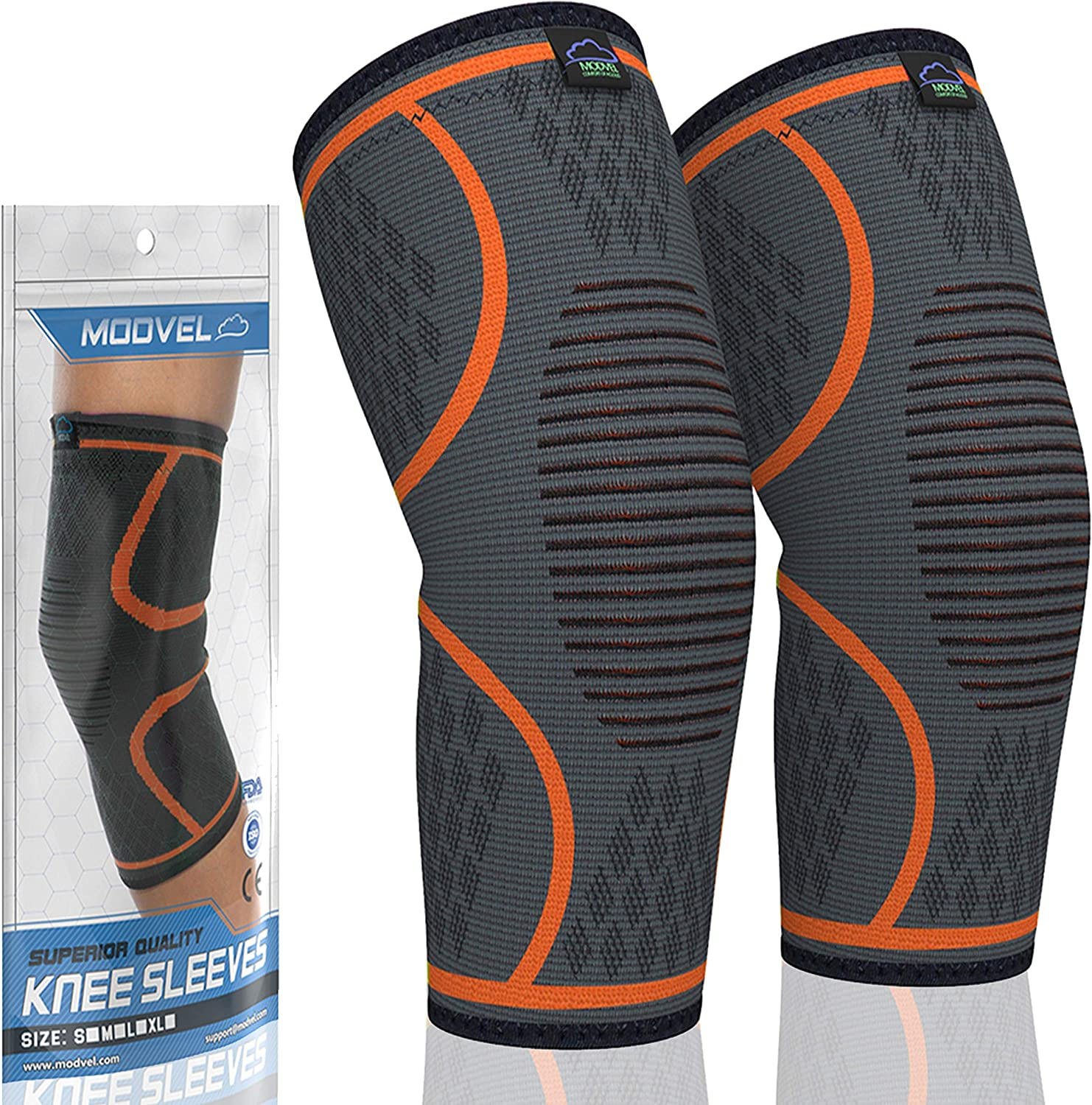 Modvel Compression Knee Sleeve (Pair) $15.90 Coupon