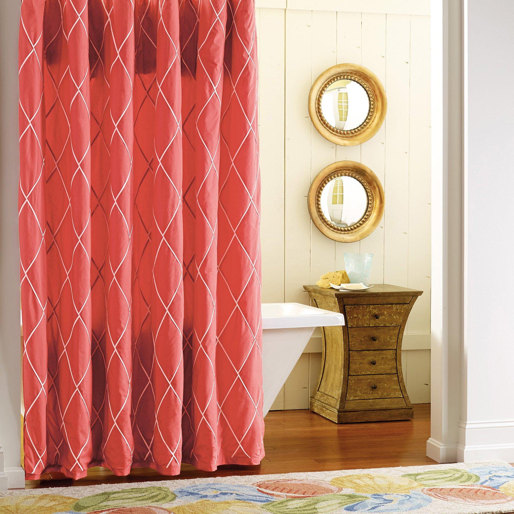 Company C Calypso Shower Curtain, 0, Red