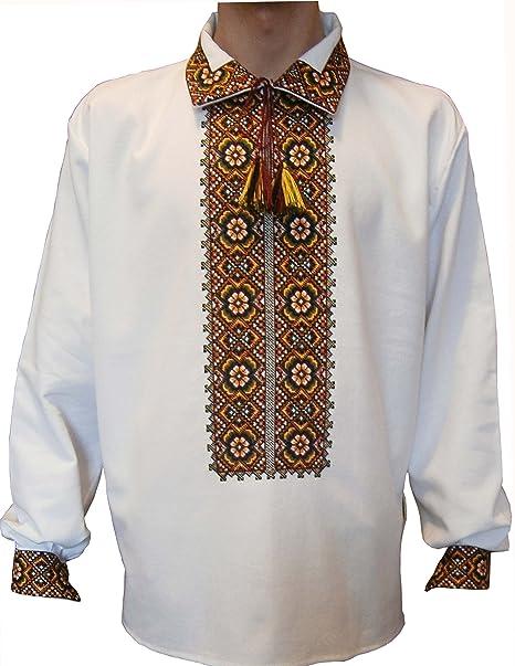 Vyshyvanka for Men Embroidered Shirt with Ethnic Hutsul ornaments FuT0UxLU5