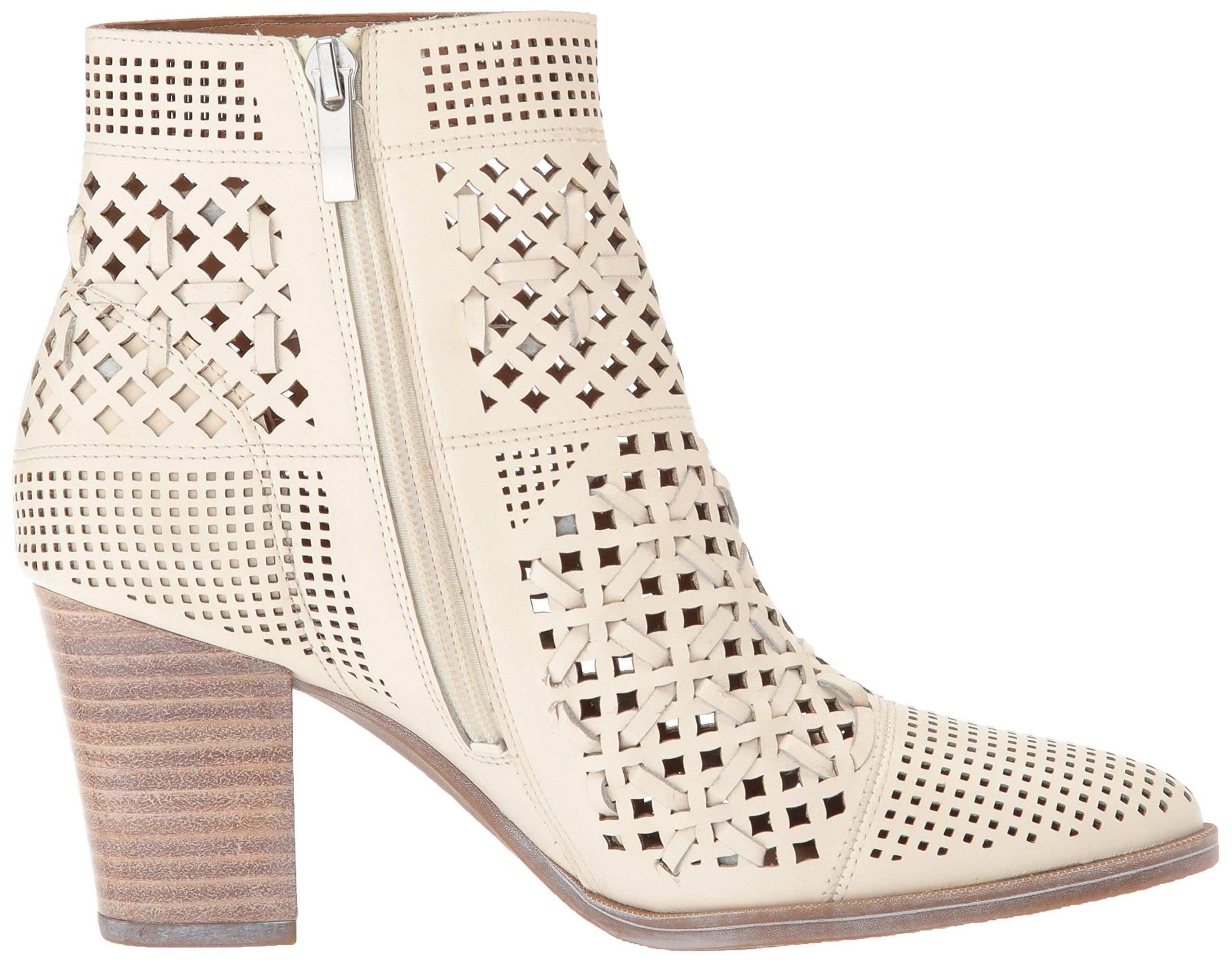 Franco Sarto Women/'s DAMSEL Fashion Boot BLACK LEATHER