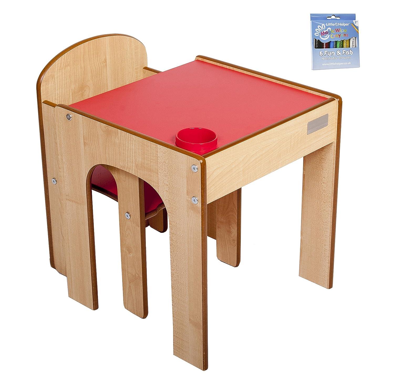 Little Helper Fun Station - Mesa, silla y crayones mágicos, color maple ArtStation