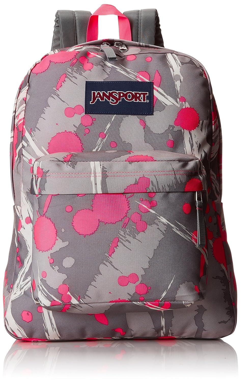 Fluorescent Pink Super Splash JanSport SuperBreak Backpack