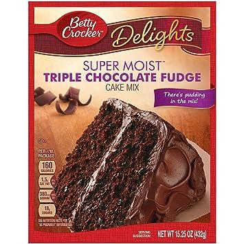Amazoncom General Mills Betty Crocker Triple Chocolate Cake Mix