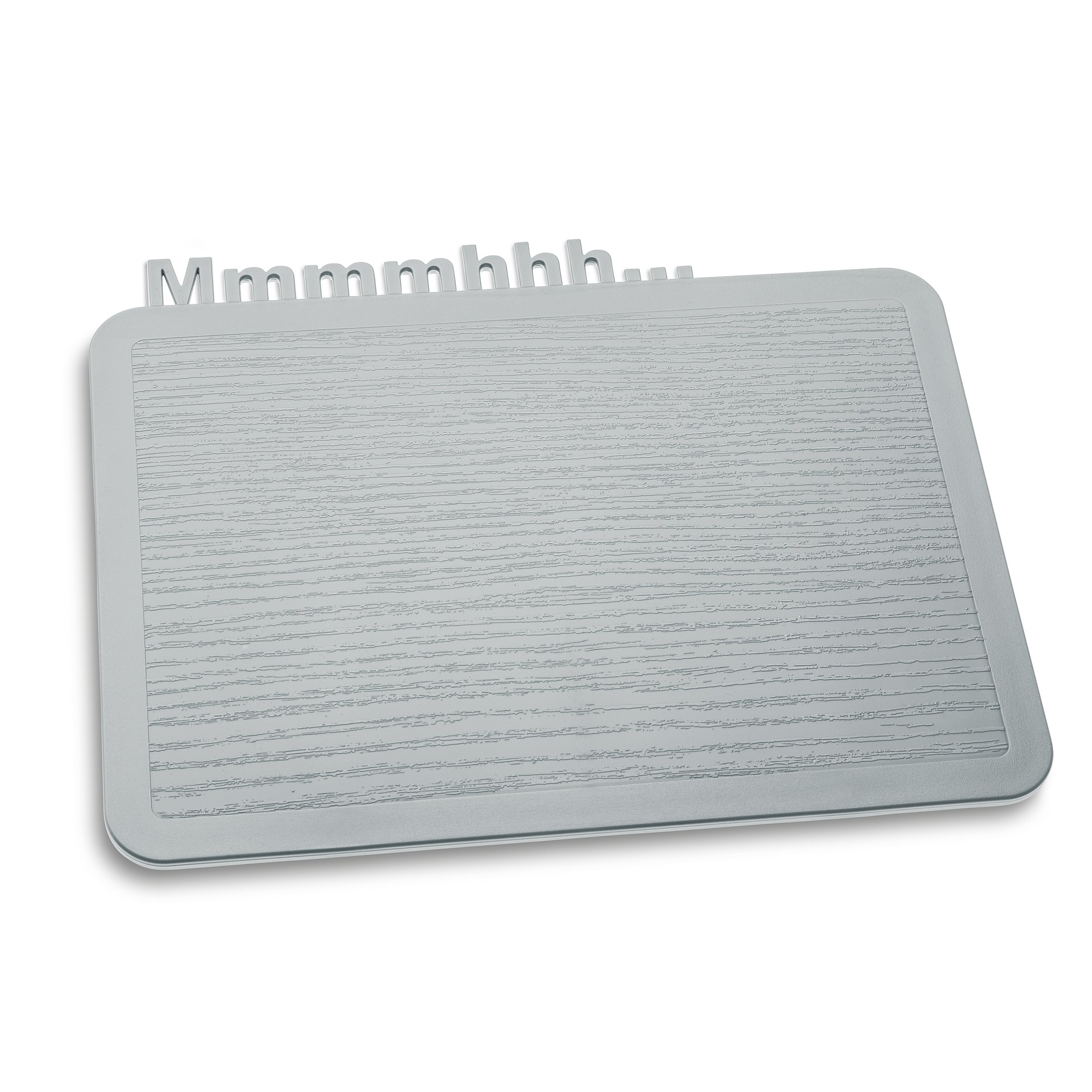Koziol 3256632 Happy Mmmmhhh Snack Board, Solid Cool Gray