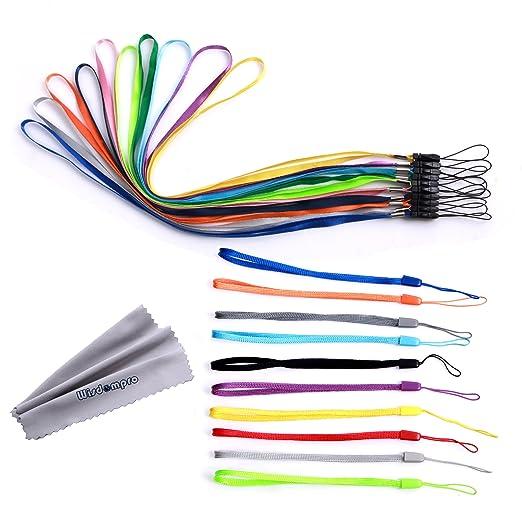 5 opinioni per Set di 20pcs Colorful da polso/collo cordini/cinghie/corde, per telefoni