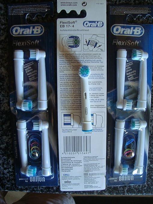 Frost® Generic compatible Flexisoft compatibile 4 X Recambio para Cepillo eléctrico Compatible y en forma Braun Oral-B, compatibile with Oral-B / Braun ...