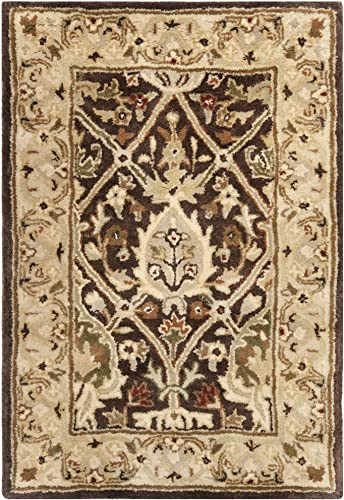 Safavieh Persian Legend Collection PL819J Handmade Traditional Brown and Beige Wool Area Rug 2' x 3'