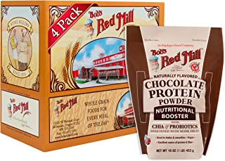 product image for Bob's Red Mill Resealable Gluten Free Chocolate Protein Powder Nutritional Booster, 16 Ounce (Pack of 4)