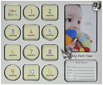 Amazon.com: Fashioncraft My First Year Baby Photo Collage Frame ...