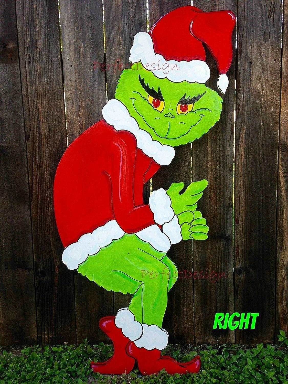 Grinch Stealing Christmas Lights Template.Guaranteed Before Christmas Grinch Stealing The Christmas Lights Handmade Wooden Yard Art Decor Right Cute