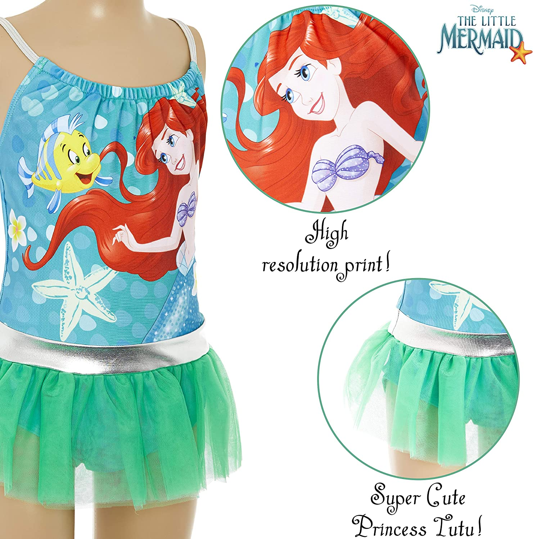 Badeset Kleinkind Badeanzug Prinzessinnen Meerjungfrau Ariel Cinderella Jasmin Einteiler Schwimmanzug UV Schutz Geschenke ab 2 Jahren Disney Bademode Kinder M/ädchen