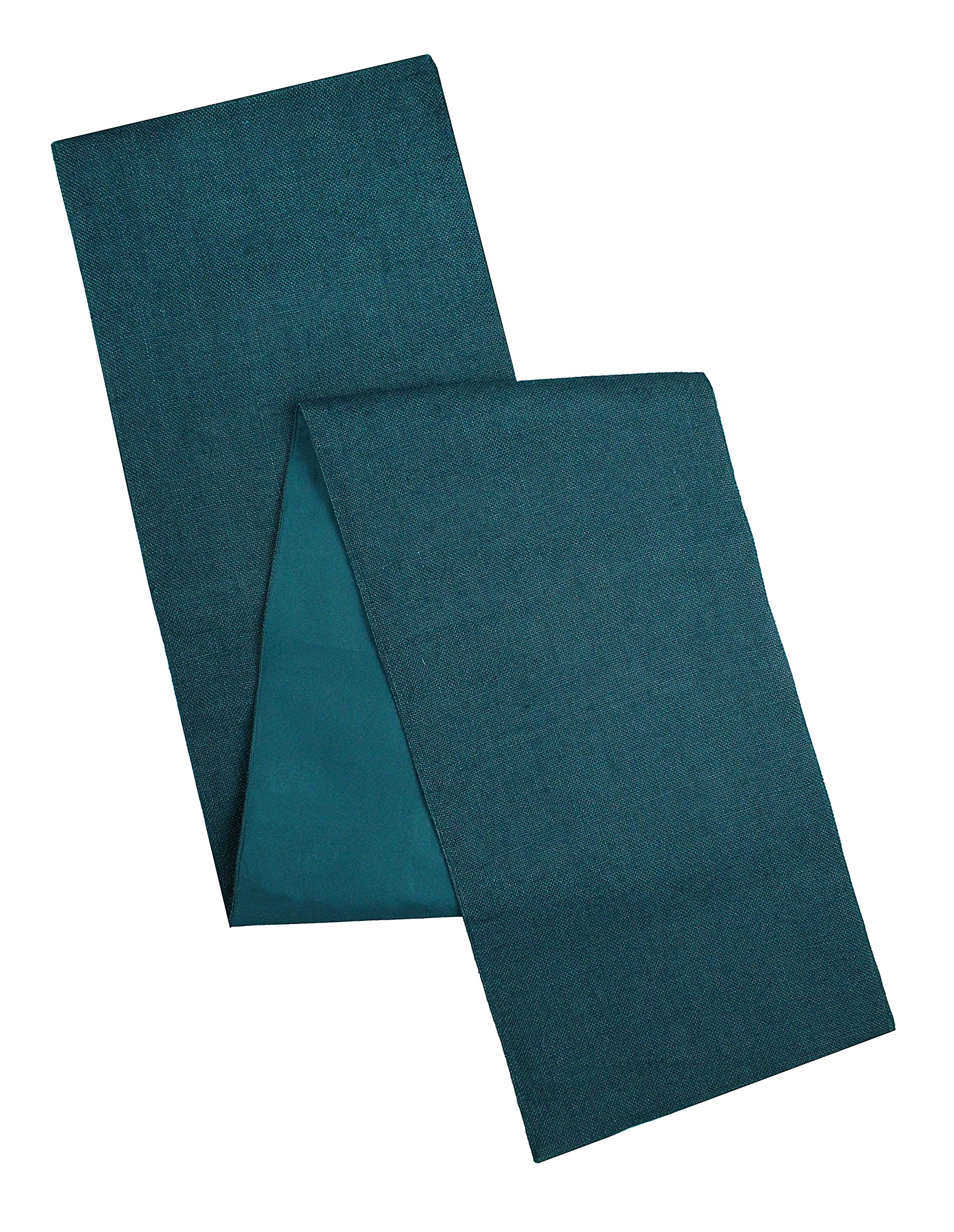 Cotton Craft - Solid Color Jute Table Runner 13x108 - Teal - Perfect Accessory to Dress Up Your Dinner Table - Made from 100% Jute - Spot Clean Only