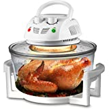 NutriChef Air Fryer, Infrared Convection Oven, Halogen Oven Countertop, Healthy Cooking, Stainless Steel, 13 Quart 1200W…