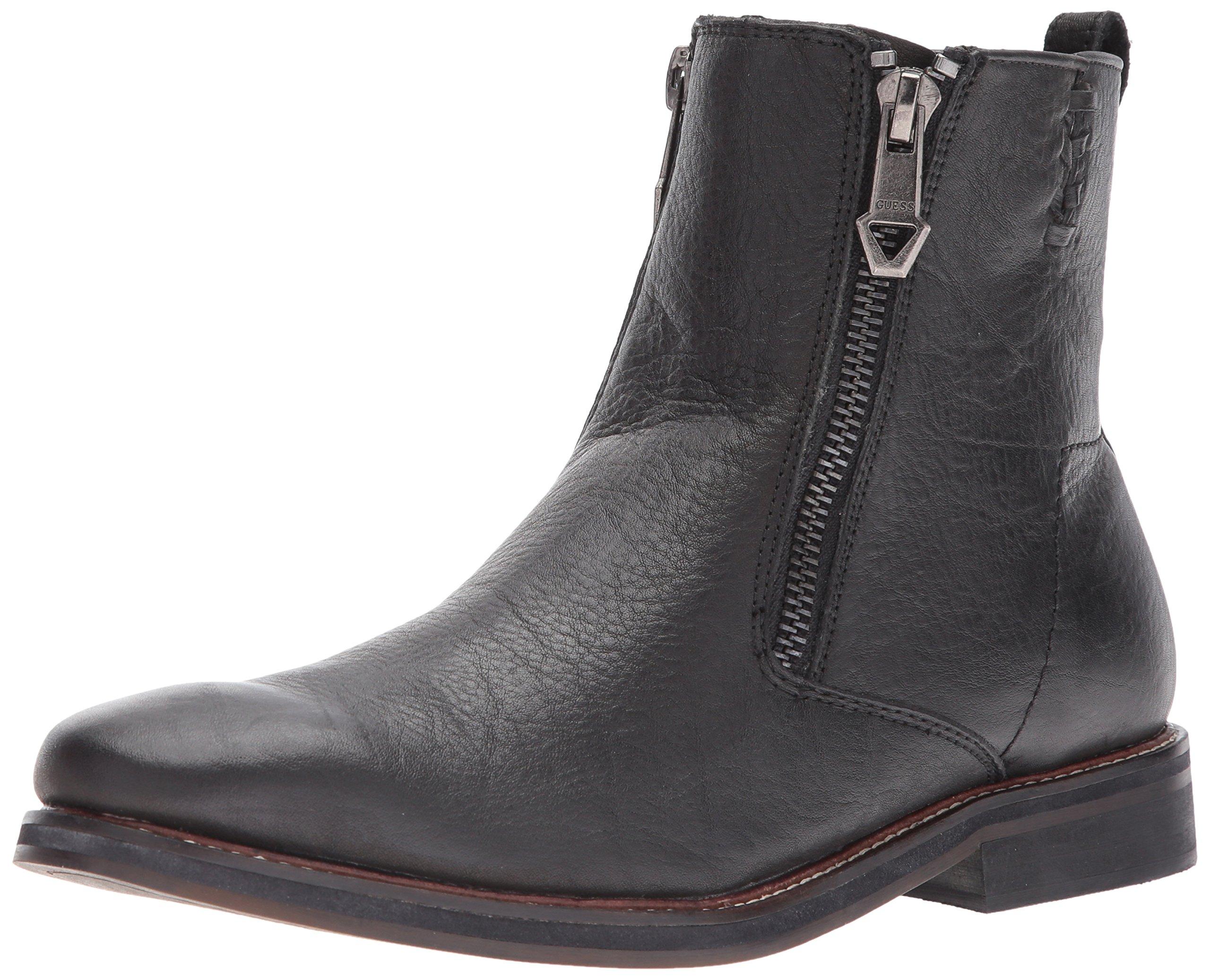 GUESS Men's Jears Chelsea Boot, Black, 11 Medium US