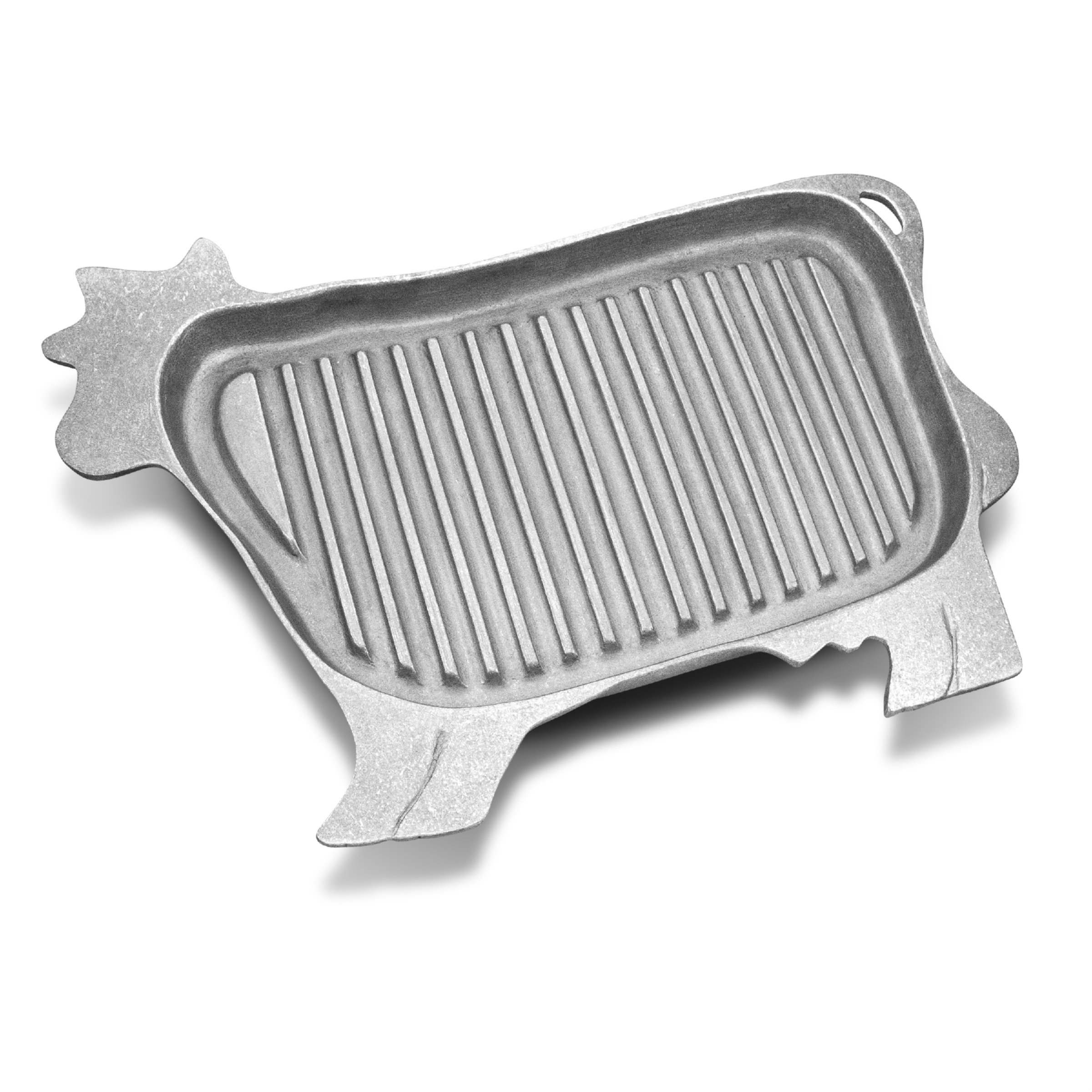 Wilton Armetale Gourmet Grillware Grilling Pan, Cow Griller, 16.5-Inch