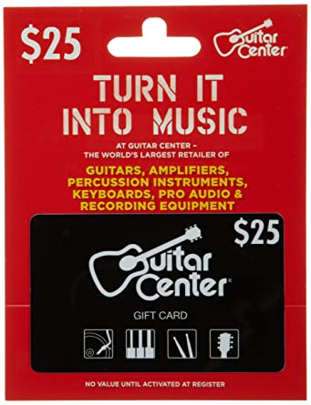 Guitar Center Gift Card 25