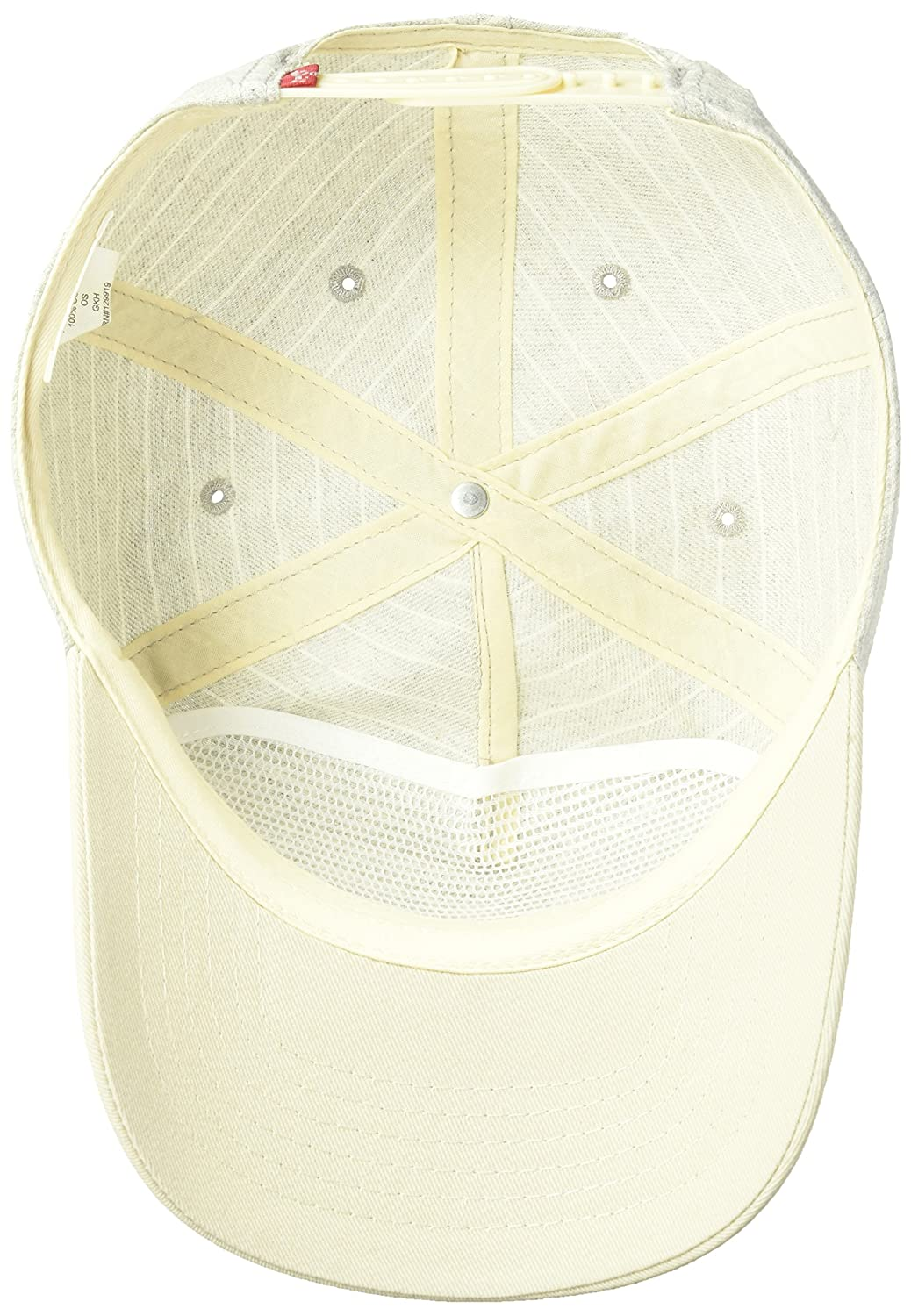 afc35852 Levi's Men's Denim Striped Baseball Camp Hat with Woven Patch, Grey One  Size at Amazon Men's Clothing store: