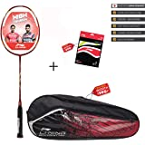 Li-Ning G-Force Lite 150 Carbon-Graphite Badminton Racquet (Red) with String & Bag