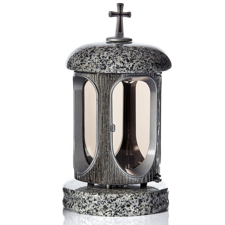 Grande lanterne Porte-bougie funéraire en granit Tribute funéraires cimetière Décoration IK Style