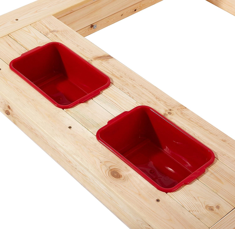 Beluga Juguetes 50380/ Natural//rojo /Caja de arena con agua de barro de rango y rojo//blanco techo