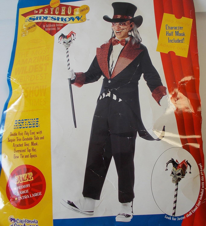 Desconocido Psycho Sideshow Circus Barker Disfraz de Adulto XL NIP ...