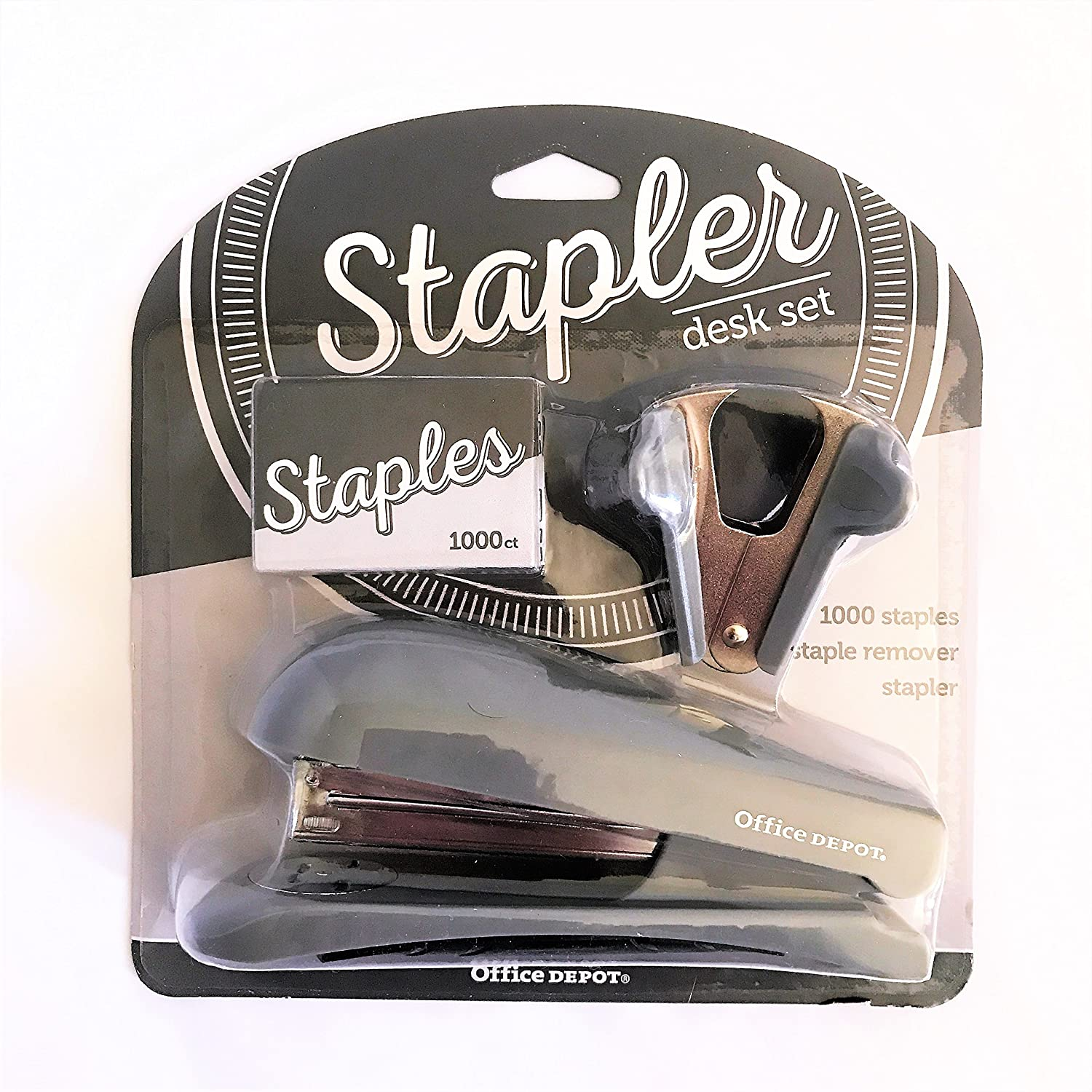 Office Depot Brand Half-Strip Stapler With Staples and Remover (Gray)