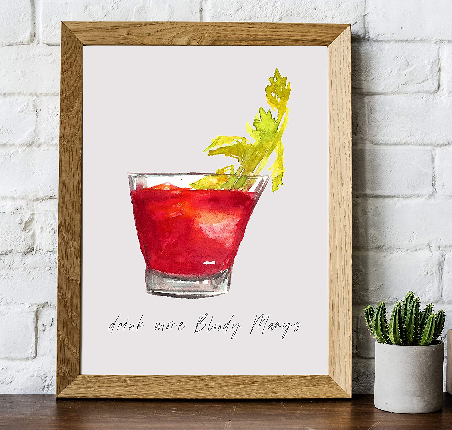 Amazon Com Bloody Mary Cocktail Bar Wall Art 8x10 Unframed Decor Print Makes A Great Gift For Kitchen Home Wet Bar Martini Wine Or Tiki Bar Drink More Bloody Marys Handmade
