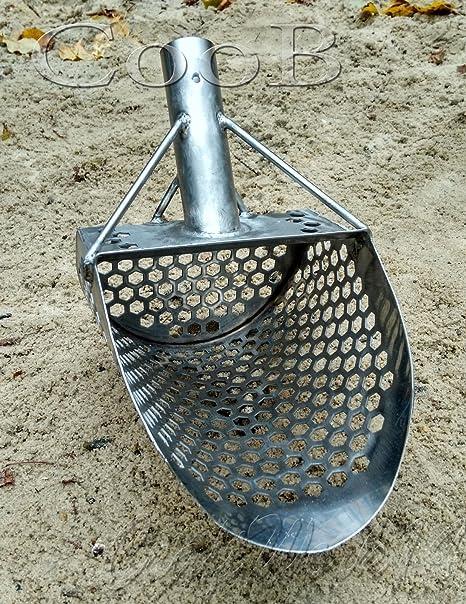 CooB Beach Sand Scoop Shovel Metal Detector, Sand Scoops Treasure Detecting, Metal Detector Hunting Stainless Steel Tool, Hexahedron Holes (Monstrik ...