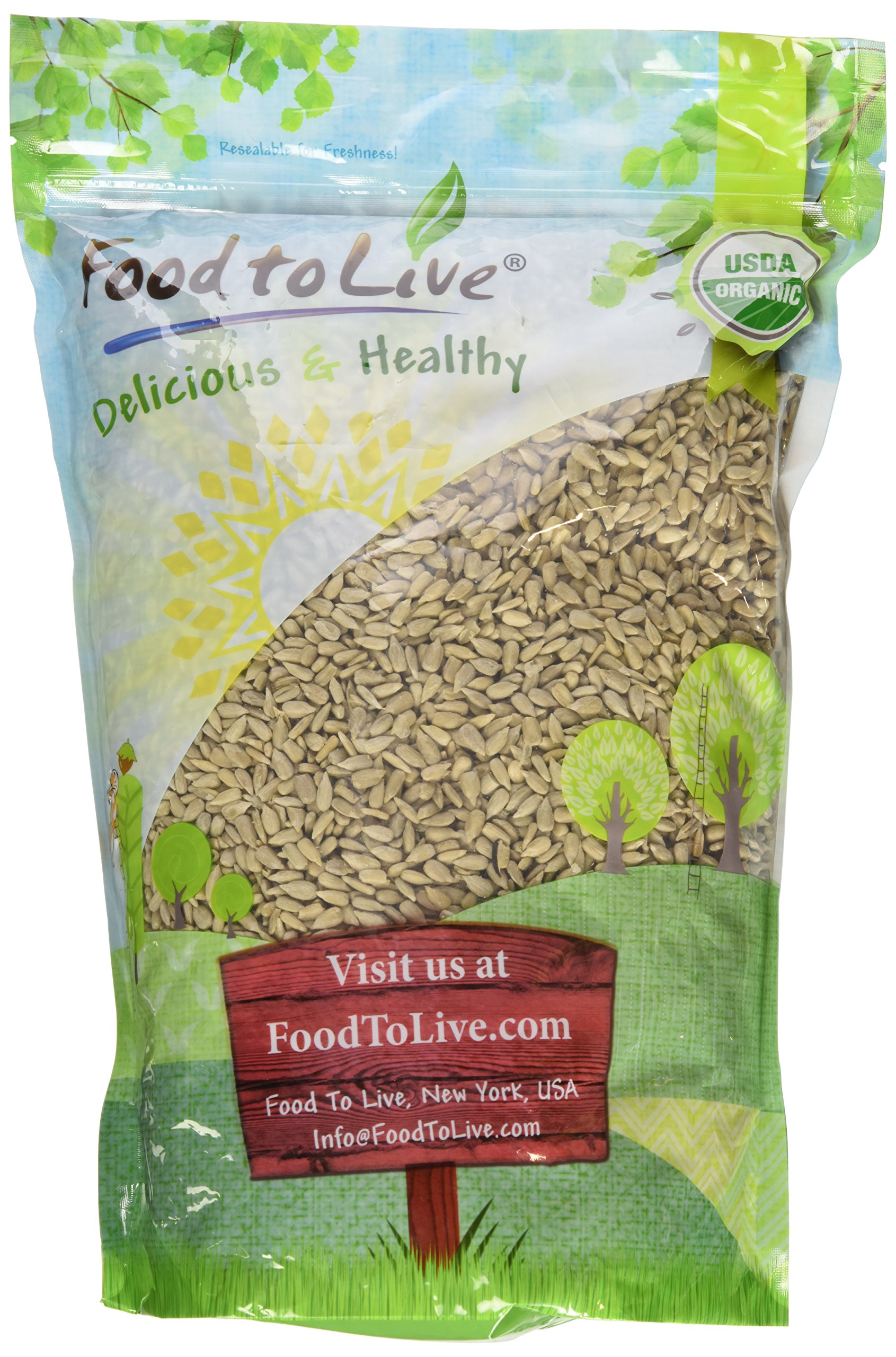 Food to Live Organic Sunflower Seeds (Raw, No Shell) (4 Pounds)