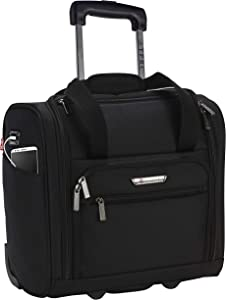 "TPRC 15"" Smart Under Seat Carry-On Luggage with USB Charging Port, Black Option, One Size"