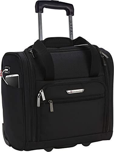 TPRC 15 Smart Under Seat Carry-On Luggage with USB Charging Port, Black Option, One Size