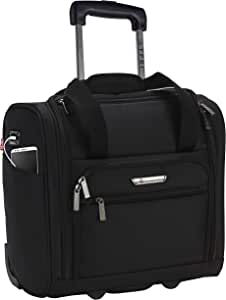 """TPRC 15"""" Smart Under Seat Carry-On Luggage with USB Charging Port, Black Option"""