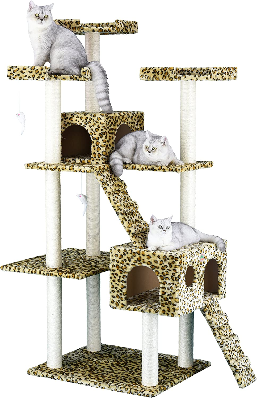 4. Go Pet Club Cat Tree with 2 Condos