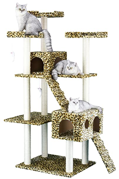 5. Go Pet Club Cat Tree Leopard - Best for Fun Design