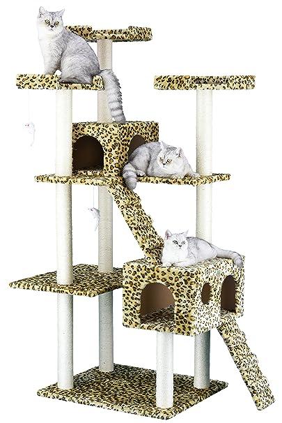 5. Go Pet Club Cat Tree Leopard - Best for Fun Design