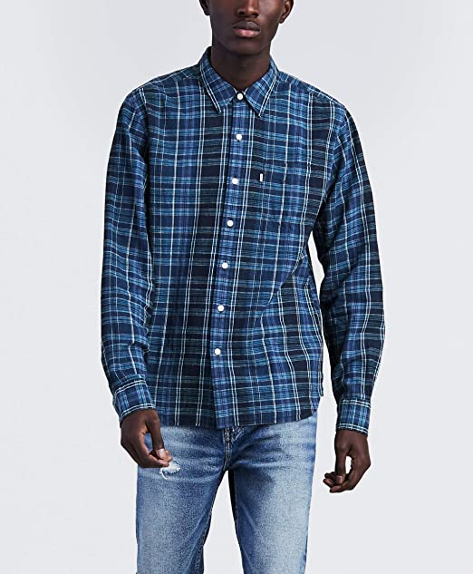 Levis - Camisa Casual - para Hombre Azul Azul XX-Large