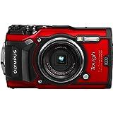 Olympus TG-5 - Cámara digital (ultraresistente, sumergible, vídeos en 4K, 4 modos de macro, WiFi integrado) color rojo