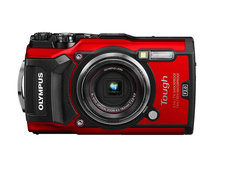 OLYMPUS デジタルカメラ  Tough TG-5 レッド 1200万画素CMOS F2.0 15m 防水 100kgf耐荷重 GPS+電子コンパス&内蔵Wi-Fi TG-5 RED 本体のみ  B071FB2S11