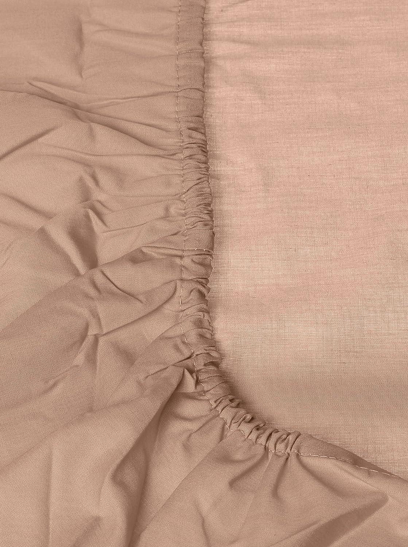 Tradition des Vosges Drap-Housse Uni Percale 150 x 200 cm 100/% Coton Bonnet de 32 cm Prune