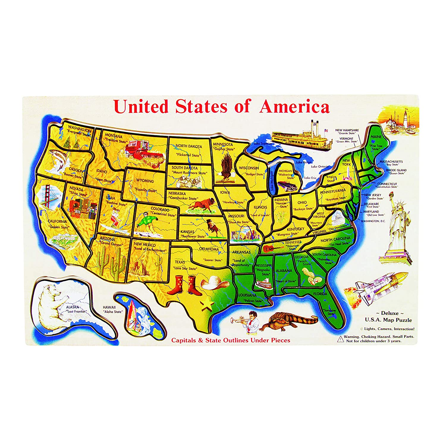 Melissa & Doug USA Map Wooden Puzzle (45 pcs) on print map of usa states, all map of usa states, show united states america map, show me on the united state map alaska, show the 50 states, love map of usa states, big map of usa states, show all states in usa, map showing states, travel map of usa states, view map of usa states, train map of usa states, outline map of usa states, united states map states, labeled map of 50 states, show us map, usa map with states, weather of usa states,