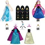 Disney(ディズニー) Anna and Elsa Mini Doll Wardrobe Play Set - Frozen - 5 1/2'' アナと雪の女王 アナとエルサミニドール ワードローブ プレイセット 13.9cm [並行輸入品]