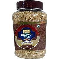 Golden Harvest Brown Rice - Premium, 1kg Jar