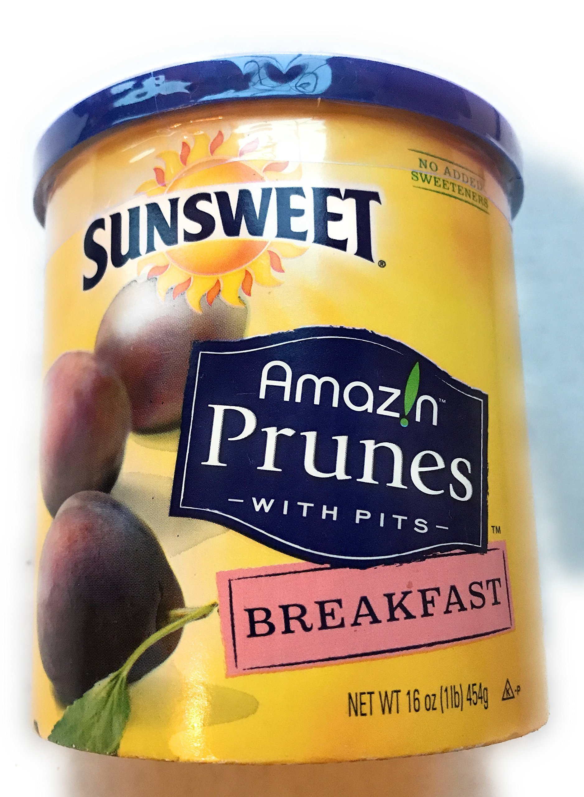 Sunsweet Amazin Prunes With Pits Breakfast Prunes 16 oz Container