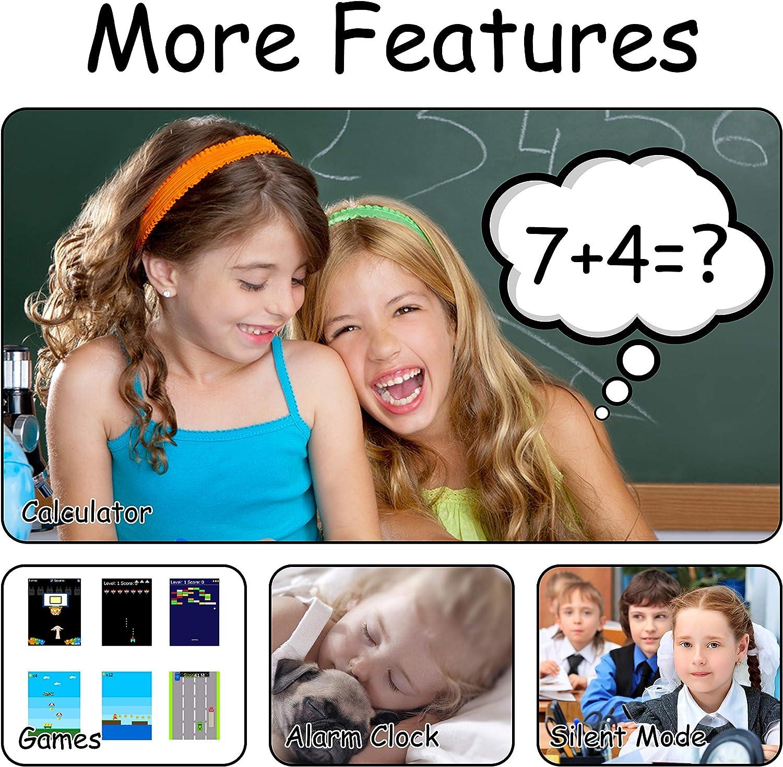 wasserdichte Student Kinder Smartwatch Telefon - Touchscreen Kinder Spiel Smartwatch, Anruf Voice Chat SOS Digitalkamera Wecker, für Jungen und Mädchen Geschenk (S12-Black) X6-Pink