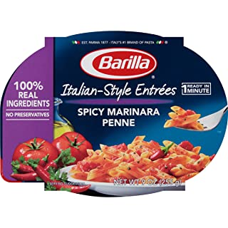 Barilla Italian-Style Entrees, Spicy Marinara Penne, 9 Ounce (Pack of 6)