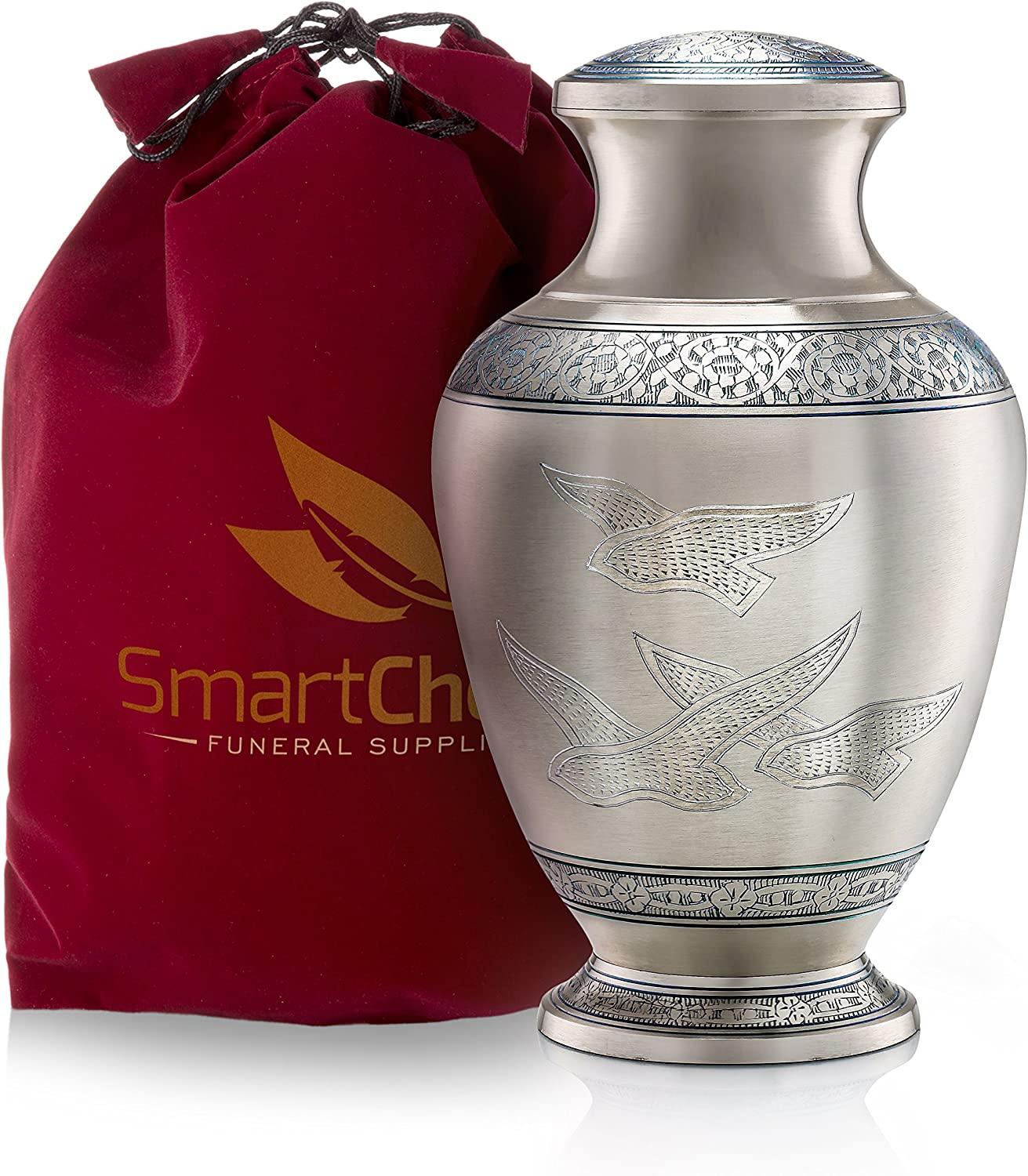SmartChoice Wings of Freedom Cremation Urn for Human Ashes - Beautiful Funeral Urn Adult Urn for Ashes Handcrafted Urn (Adult)
