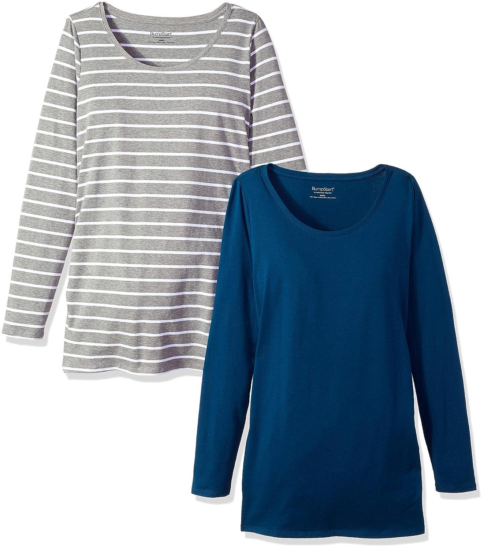 26bc88b8a9b4c Motherhood Maternity Women's Maternity Bumpstart 2 Pack Long Sleeve Tee  Shirts at Amazon Women's Clothing store: