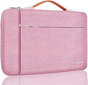Ferkurn 14 inch Laptop Sleeve Case for Chromebook 14/ ThinkPad IdeaPad/Latitude Inspiron/Pavilion EliteBook/ZenBook VivoBook/Acer Aspire Swift 7, Waterproof Protective Computer Carrying Bag, Pink