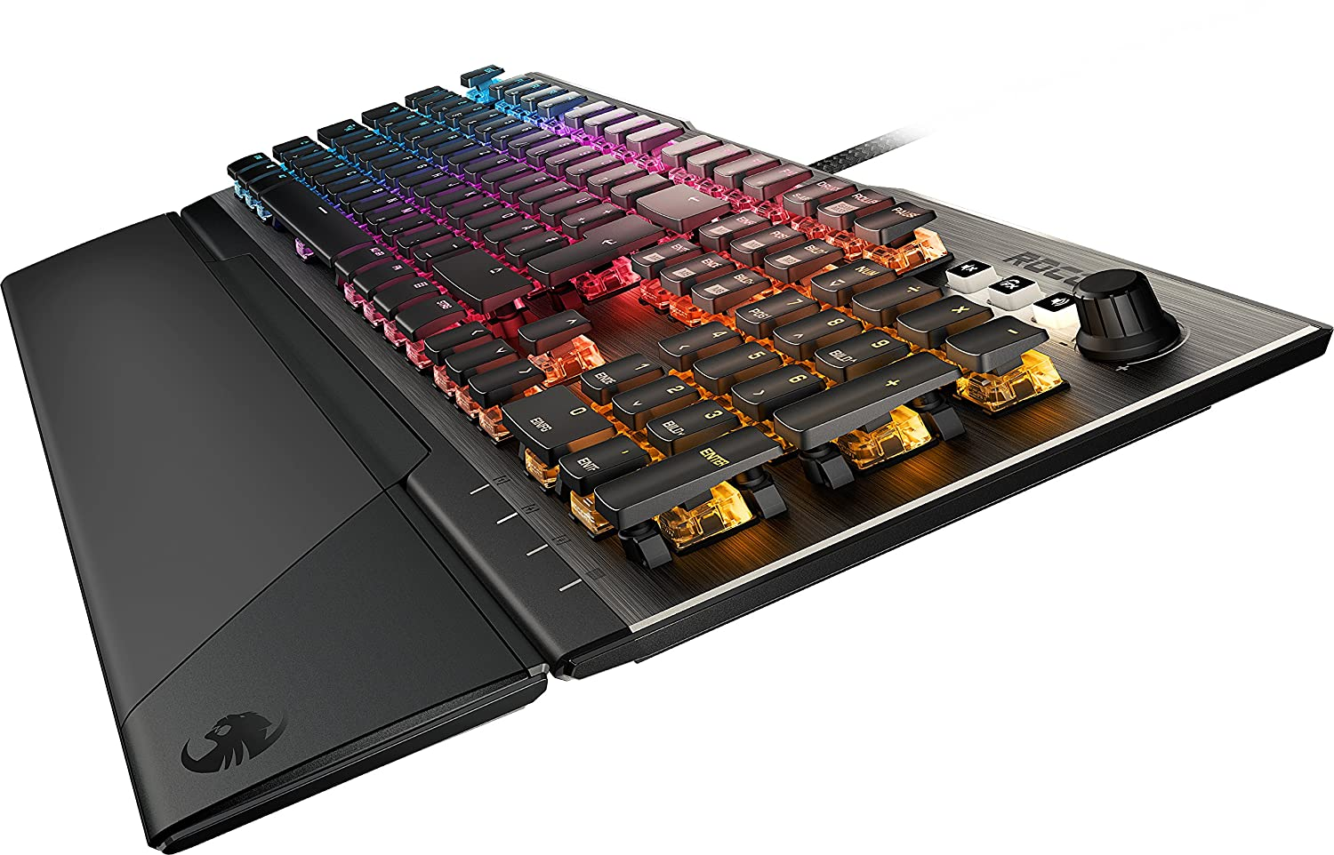 0e7df4f3289 ROCCAT Vulcan 120 - Mechanical RGB Gaming Keyboard, AIMO LED Per-Key  lighting, ROCCAT Titan switches, durable design (aluminum top plate),  multimedia wheel, ...